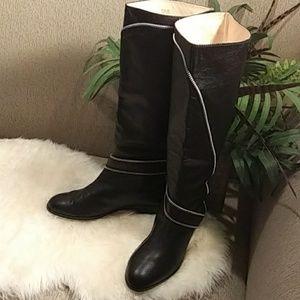 Michael  Kors zipper detailed riding boots